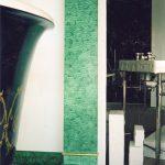 Colonne en faux marbre malachite