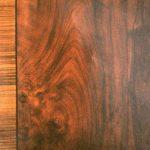 Panneau en faux bois de ronce de noyer et chant en bois de rose