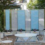 Panneaux d'un paravent de jardin en faux ciel