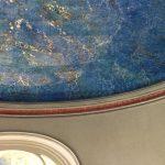 Plafond en faux marbre lapis lazuli et corniche en imitation de terre cuite